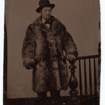 Tenderfoot Tintype Buffalo Coat Wild West Studio Prop collection Jim Linderman