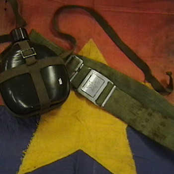 NVA Battle Flag, Canteen, and Belt - Military and Wartime