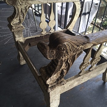 Carved duck arm chair - Furniture
