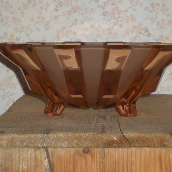 Bohemian Art Deco glass bowl 2. - Art Glass