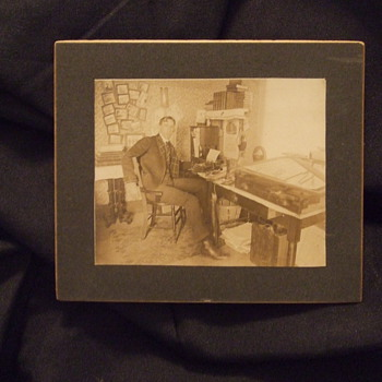 Occupational of draftsman at his desk - Photographs