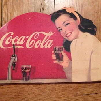 1948 Coca Cola Cardboard Cutout (Partial)