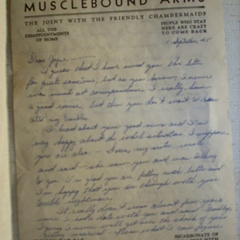 World War II letter - Military and Wartime