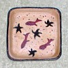 "Studio Pottery ""Fishes"" Square Dish"