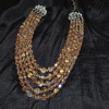 Coro Vintage AB Crystal Necklace - Five Strands