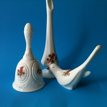MY NEW FENTON CARDINALS IN WINTER 3 PC COLLECTION