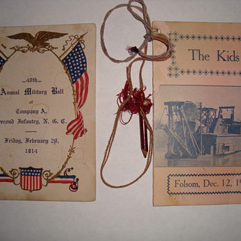 100+ year old dancecards
