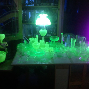 a random assortment of green - Glassware