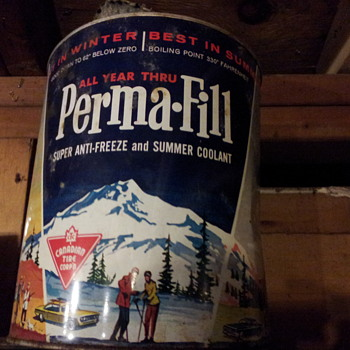 Vintage Perma-fill Anti-freeze Gallon Tin. Canadian Tire Corp.