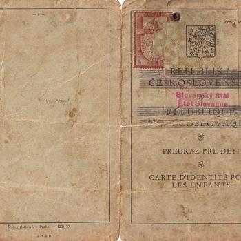 1939 pre-war children's ID