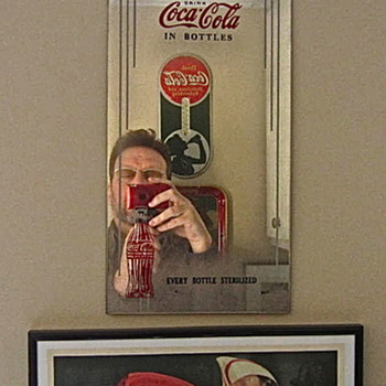 Late 1920s Coca Cola advertising mirror - Coca-Cola