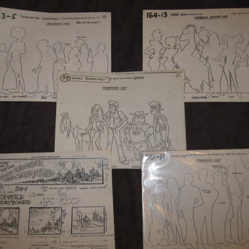 storyboard andstudio print model sheets