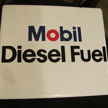 Mobil Diesel Fuel porcelain pump sign - Petroliana