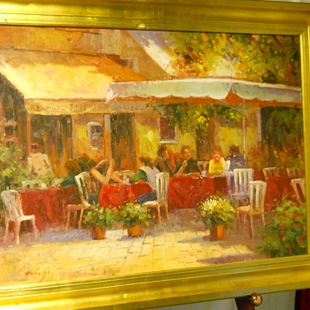 "French/Italian, Impressionism Painting""MIGUEL"" 20 Century - Visual Art"