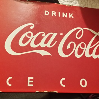 Unsure of date or authenticity.  Drink Coca Cola Ice Cold Sign - Advertising