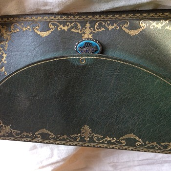 Leather Envelope Purse  Gild Jeweled Clasp