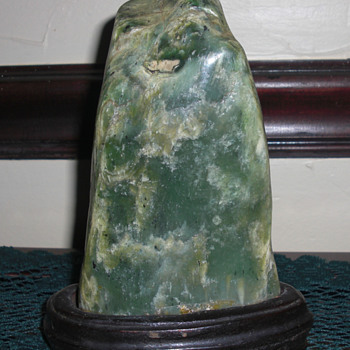 Stone on a stand