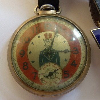 "E. Ingraham ""Uncle Sam"" Pocket Watch"