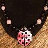 Lee Sands Lady Bug Necklace 1990
