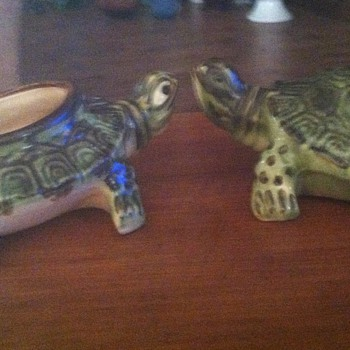 Brush Turtles - 1930's - Art Pottery