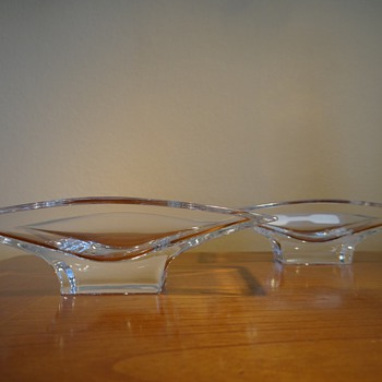 KARIM RASHID - NAMBE -  MINI PLANAR BOWL PAIR  - Art Glass