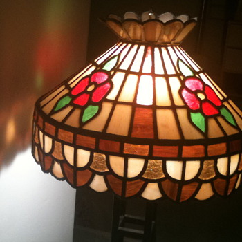 Stained glass chandelier - antique or homemade last month? - Lamps