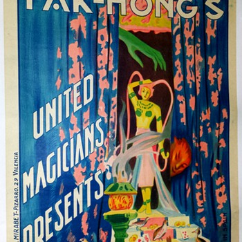 "Original Fak Hong ""Elle"" Stone Lithograph Poster - Posters and Prints"