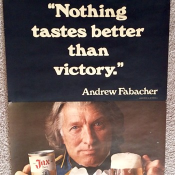 "JAX BEER ""Nothing tastes better than victory"" Andrew Fabacher Poster - Advertising"