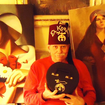 Menage a Trois!!!  I Wish! haha Art Deco oil paintings!  2nd one maybe Arab?  Need help!  No signatures