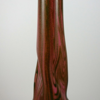 Rindskopf Pink &amp; Green Aventurine Vase, ca. 1920 - Art Glass