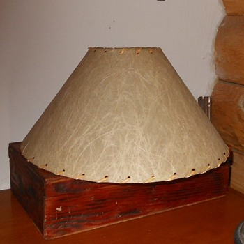 Another Fiberglass Table Lamp Shade 1950s