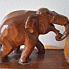 Hand Carved Asian Elephant Bookends
