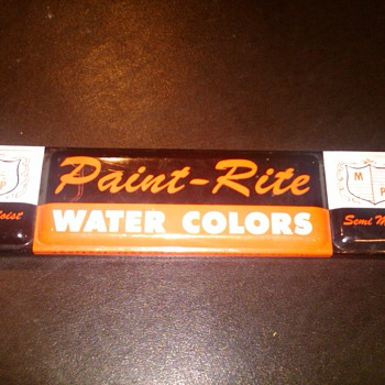 Paint-Rite water colors