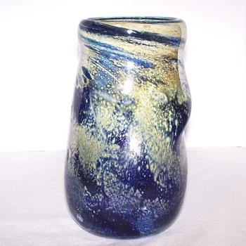 "Muticolor Glass Vase""Help""03415"