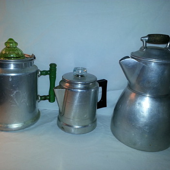 Antique/Vintage Aluminum Percolators/Coffee Pots