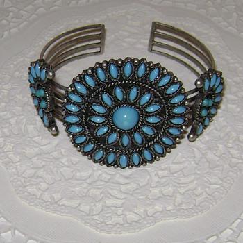 Avon Faux Turquoise Cuff Bracelet
