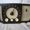 1955 Bakelite Brown Zenith Tube Table AM FM Radio Model Y723 