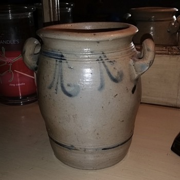 Two handled stoneware crock