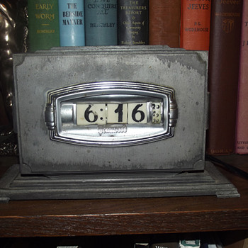 Rare 1937 Gun Metal Grey Pennwood Numechron, Model # Unknown - Art Deco