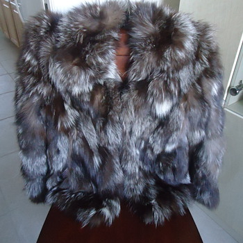 FUR JACKET REAL SILVER  FOX