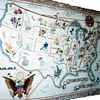 Map of the United States embroideries,1940