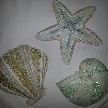 Glass Seashell Plaques