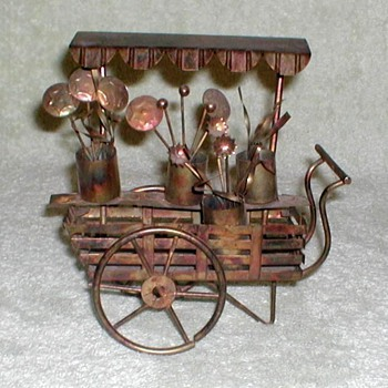 Bronze Flower Cart - Arts and Crafts