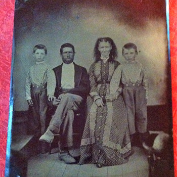 Antique TIN TYPE Photo Jesse & Frank James ? - Photographs