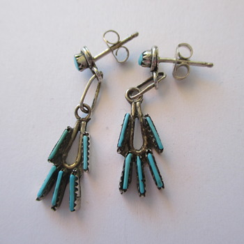 Silver Zuni earrings
