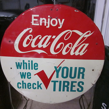 Coca Cola Tire Check Stand - Coca-Cola