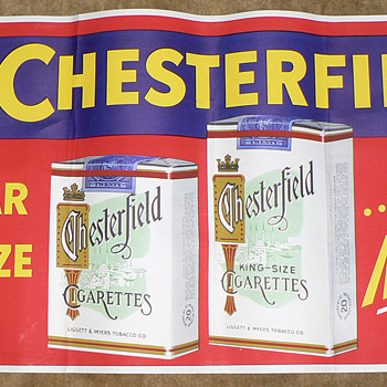 Chesterfield cigarette advertising poster.