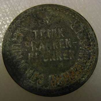 Mineral water bottle deposit coin (Franken-Brunnen)
