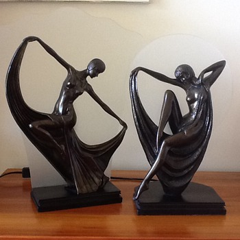 Pair of Art Deco Lamps - Art Deco
