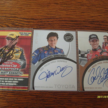 Nascar Autograph Cards 